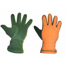 Перчатки флисовые двухцветные